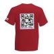 Maglietta manica corta, rosso mattone, retro