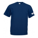 Short sleeved T-shirt, navy blue, front