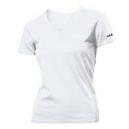 U-shirt collo v donna bianco