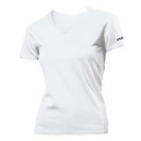 Woman v-neck u-shirt white
