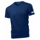 U-shirt collo v blu navy