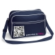 U-shoulder bag blu navy/bianco