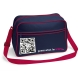 U-shoulder bag blu navy/rosso